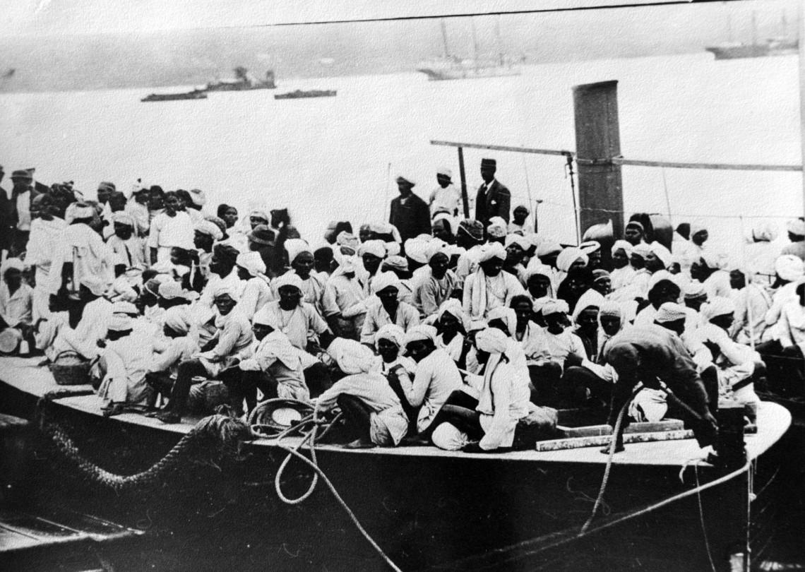 Indentured indians landing
