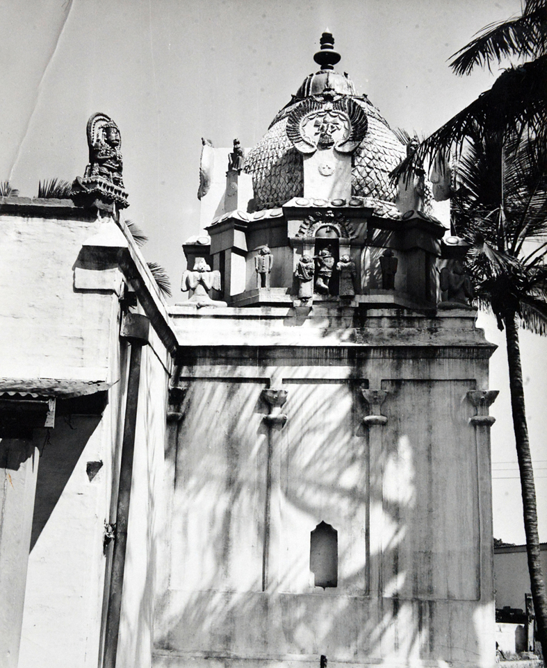 The 95 year old Shri Vishnu temple at the Magazine Bar Racks Somtseu Roa...