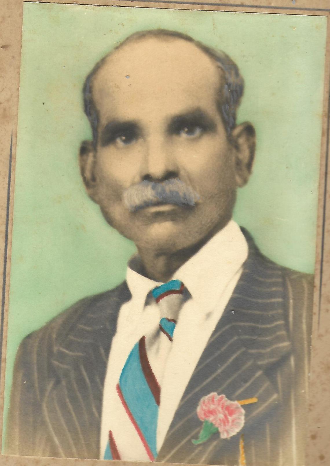 Muniamma - Mr Coopoosamy Govender husband of Muniamma - daughter of Kandasamy and Thanji Naiken