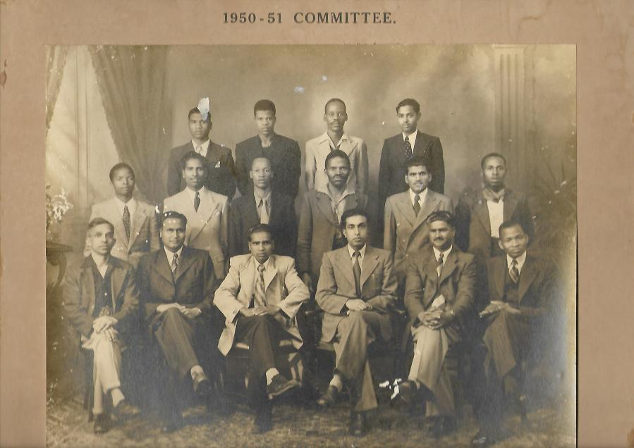 Muniamma - Mr Sooboo Govender (third from left seated) was chairperson of the Chemical and Allied Workers Union from 1950 to 1951